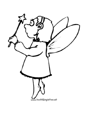 Printable Little Fairy With Magic Wand Coloring Page Fairy Coloring Book Coloring Pages Fairy Coloring Pages