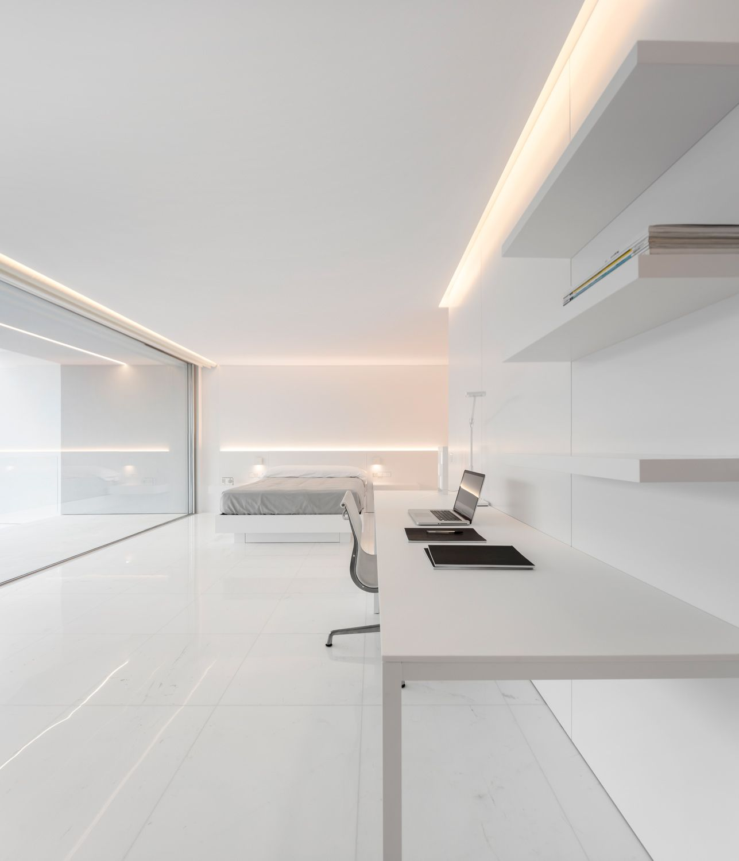 White Minimalistinterior Design: House Between The Pine Forest, Spain