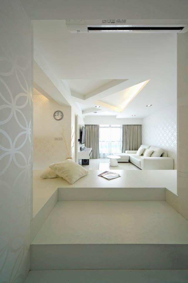 Minimalist Hdb Design: 615B Edgefield Plains, Modern HDB Interior Design, Living