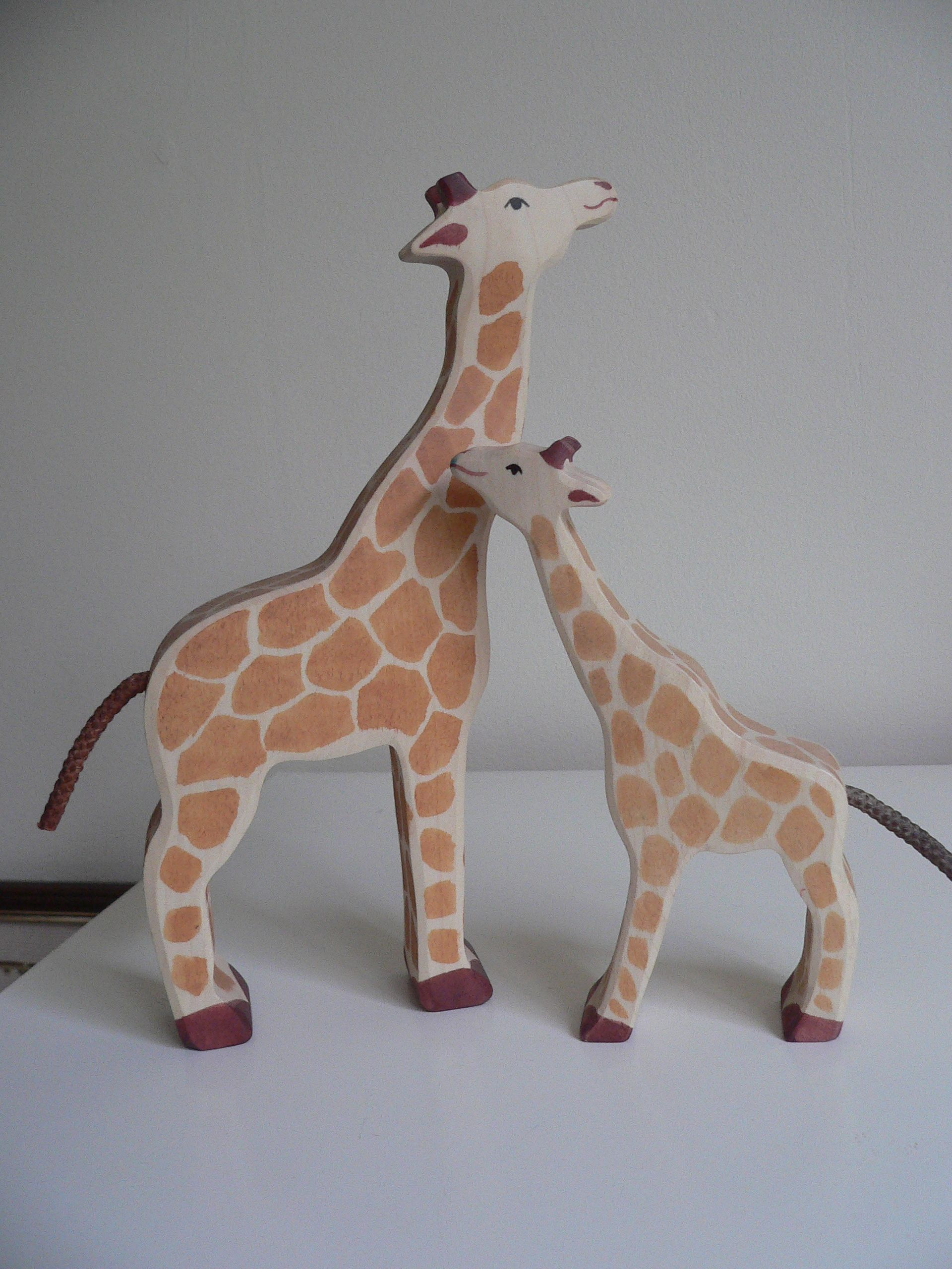 Action Figures Animals & Dinosaurs Holztiger Giraffe Wooden Figure