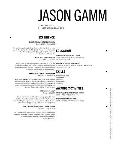 attractive cv/resume design inspiration