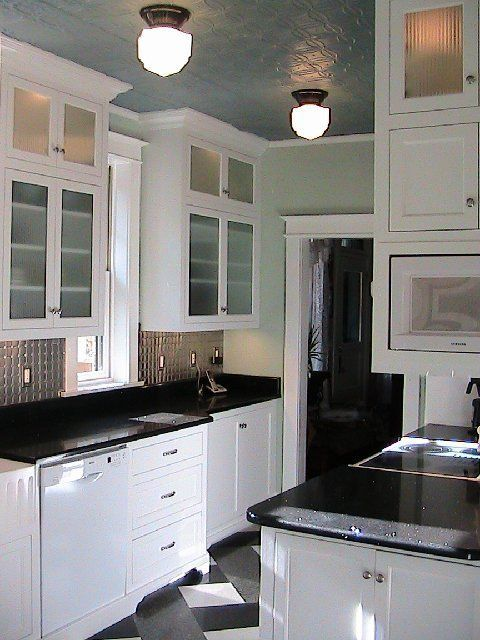 black and white kitchens with red | Kitchen+After+Remodel+White+ ...
