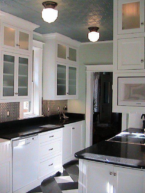 White Cabinets Kitchen Granite