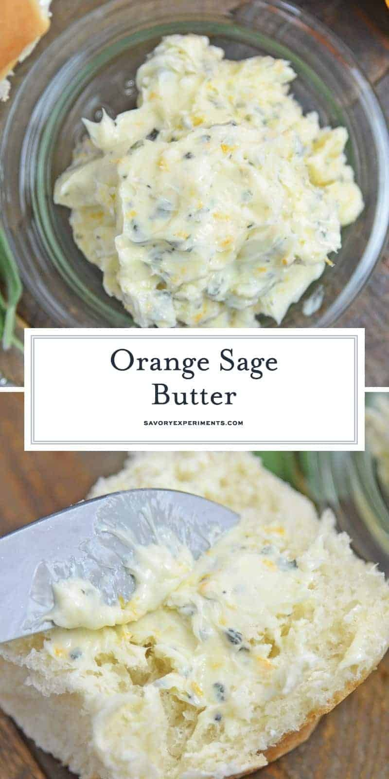 EASY 3 Ingredient Orange Sage Butter Recipe - Perfect on Turkey!