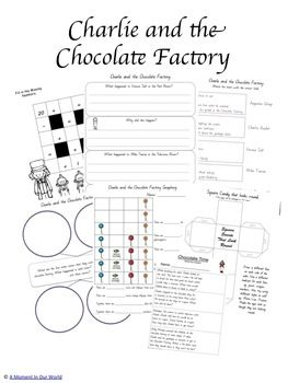 Charlie And The Chocolate Factory Grades 1 3 Printable Pack Chocolate Factory Kids Book Club Roald Dahl Activities