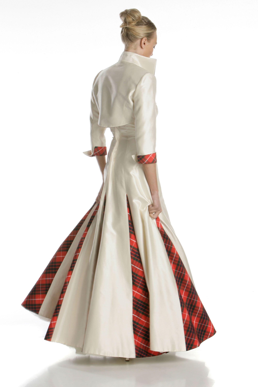 Scottish tartan wedding dress  Pin by Misty Martin Carrothers on  th Anniversary Ideas