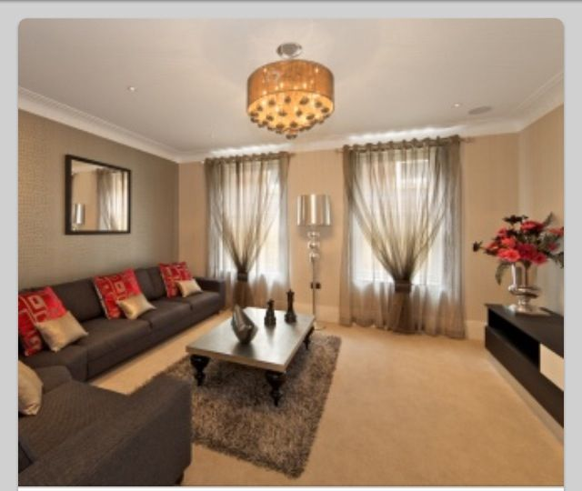 Brown And Red Living Room Decor Ideas: Simple Living Room [ 4LifeCenter.com ] #digestion #life