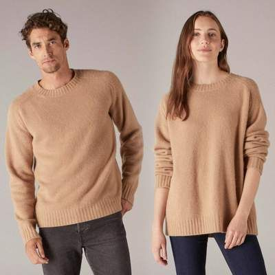 ba7832146 The Luxe Unisex Cashmere Sweater Camel