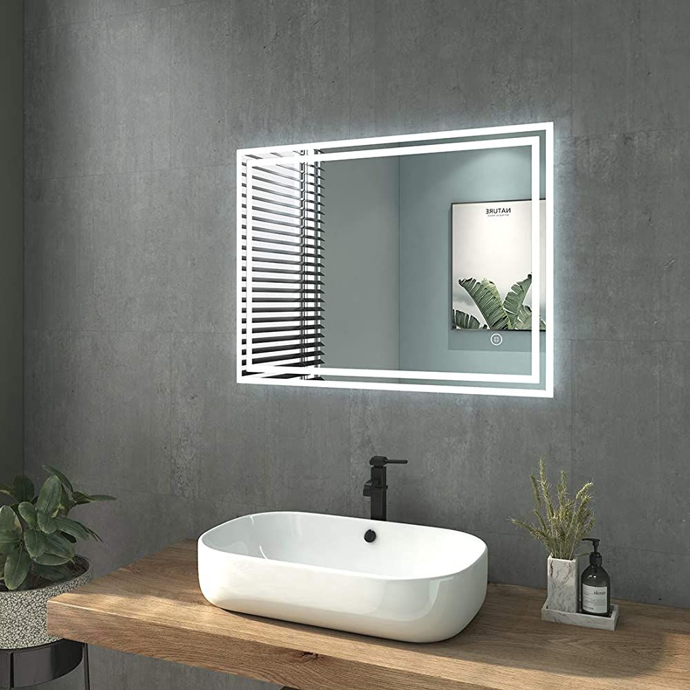 Welmax 80x60cm Badezimmerspiegel Led Badspiegel Mit Beleuchtung