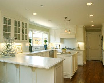U Shaped Kitchen With Island Design Ideas Pictures Remodel And Decor Position Of Sink Dishwasher And Oven U Shaped Kitchen Kitchen Design Kitchen Remodel