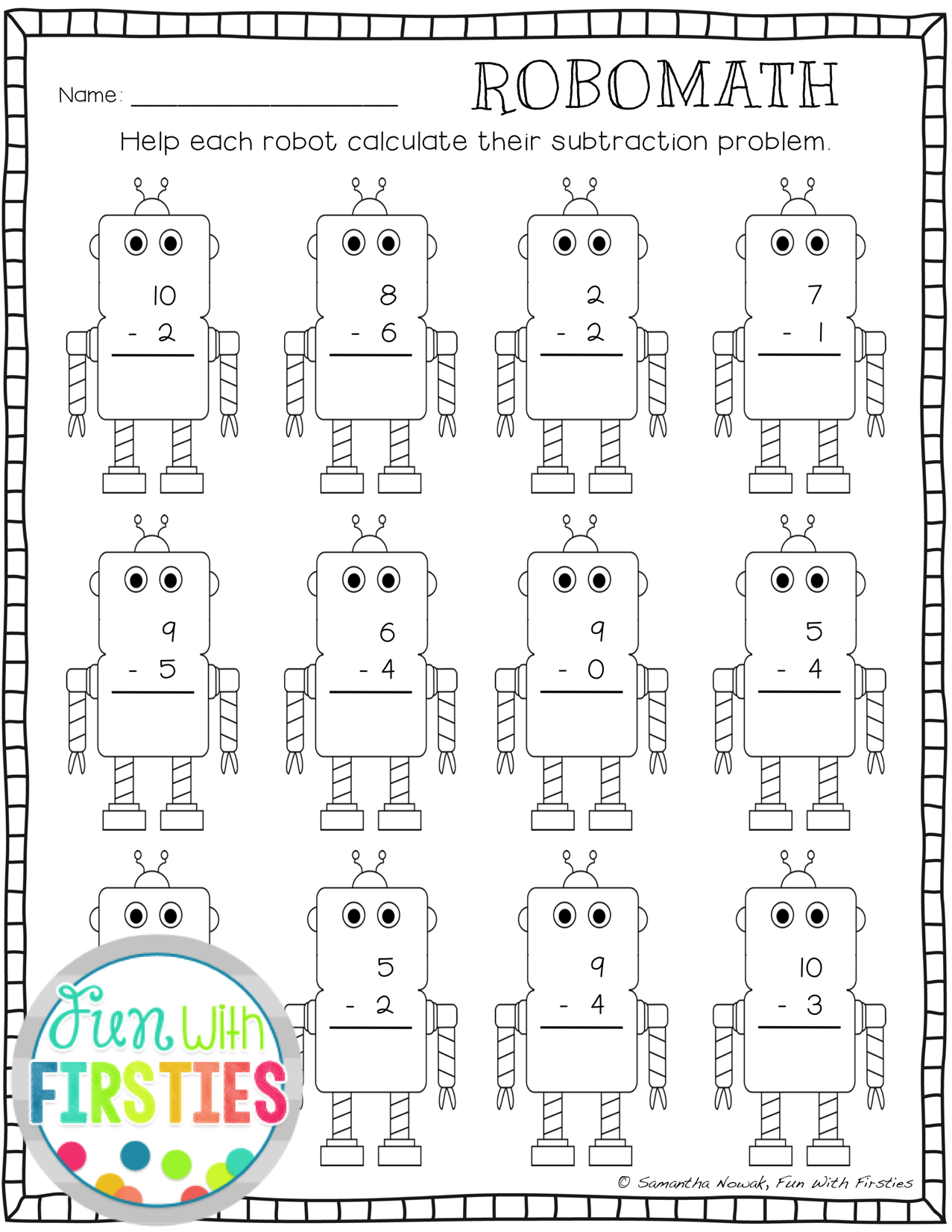 A Robot Page For Addition Subtraction Practice That My Boys Love Addition And Subtraction Practice Subtraction Practice Summer Math Worksheets [ 1652 x 1277 Pixel ]