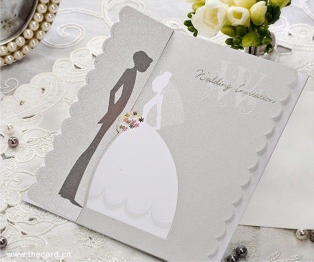 Cute Wedding Card Invitations Garden Theme Double Gate Fold – Invitation Cards for Weddings