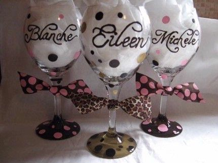 Diy bridesmaid glasses wedding party pinterest glass party diy bridesmaid glasses solutioingenieria Gallery