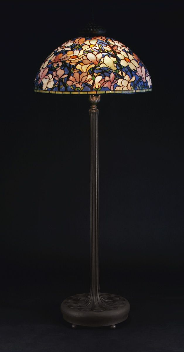 Tiffany Floor Lamp Amazing Sgntiffany Studios Ny Magnolia Floor Lamp  Cottone Auctions Design Decoration