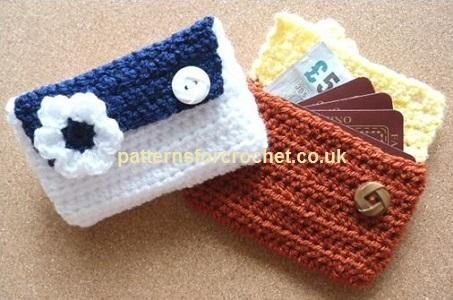 (4) Name: 'Crocheting : pfc118-Card Pouch-Purse crochet pattern