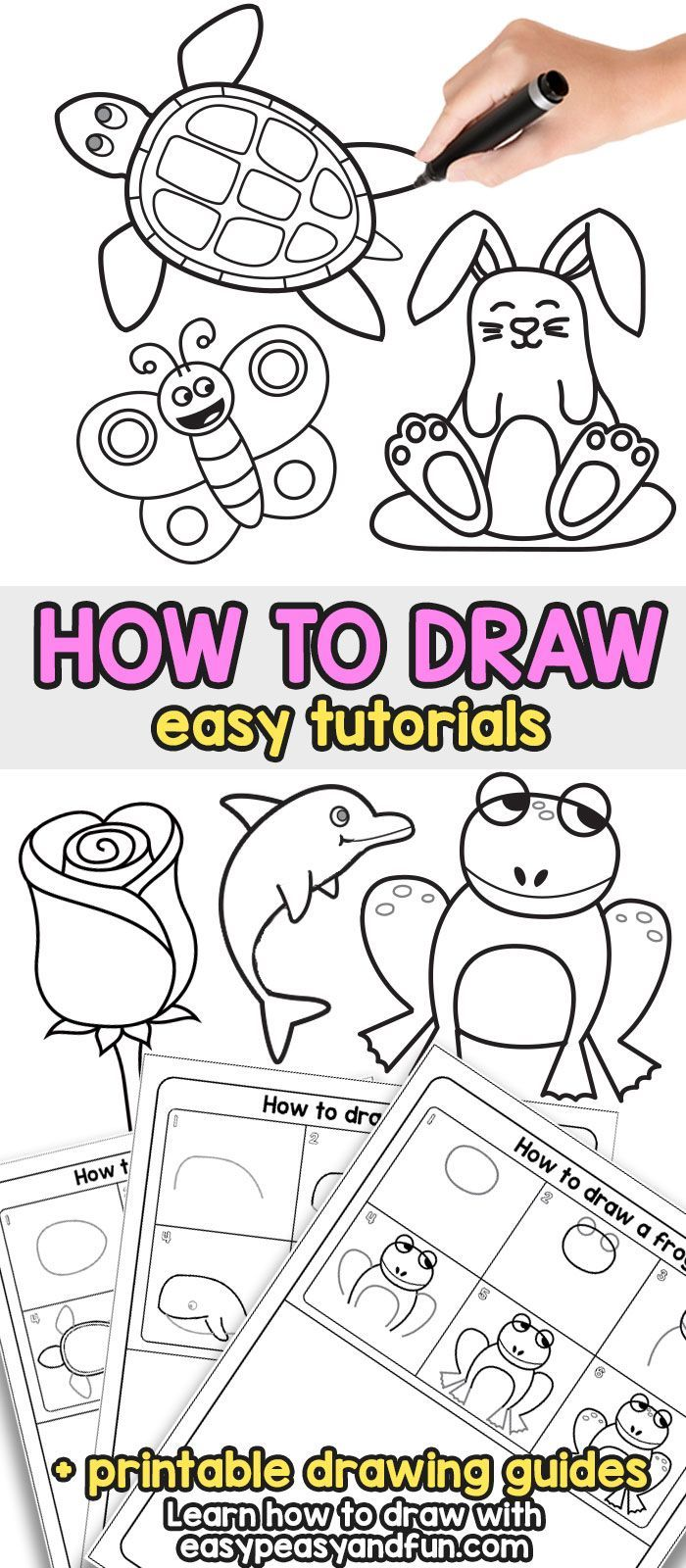 How to Draw - Step by Step Drawing For Kids and Beginners ...