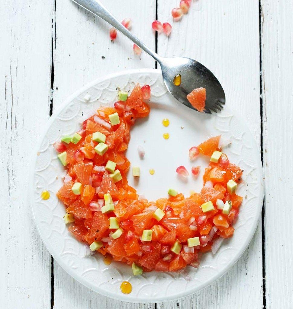 Tartare de saumon et pamplemousse au citron vert - Ôdélices : Recettes de cuisine faciles et originales !