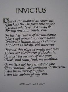 the poem invictus by william ernest henley
