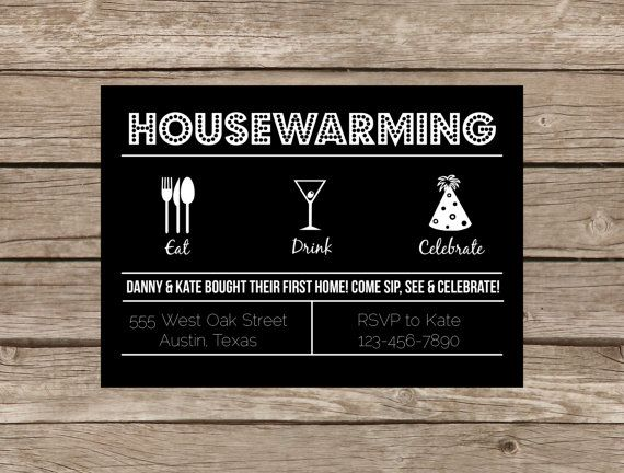 ItS A Housewarming Party  Housewarming Party Modern Retro And