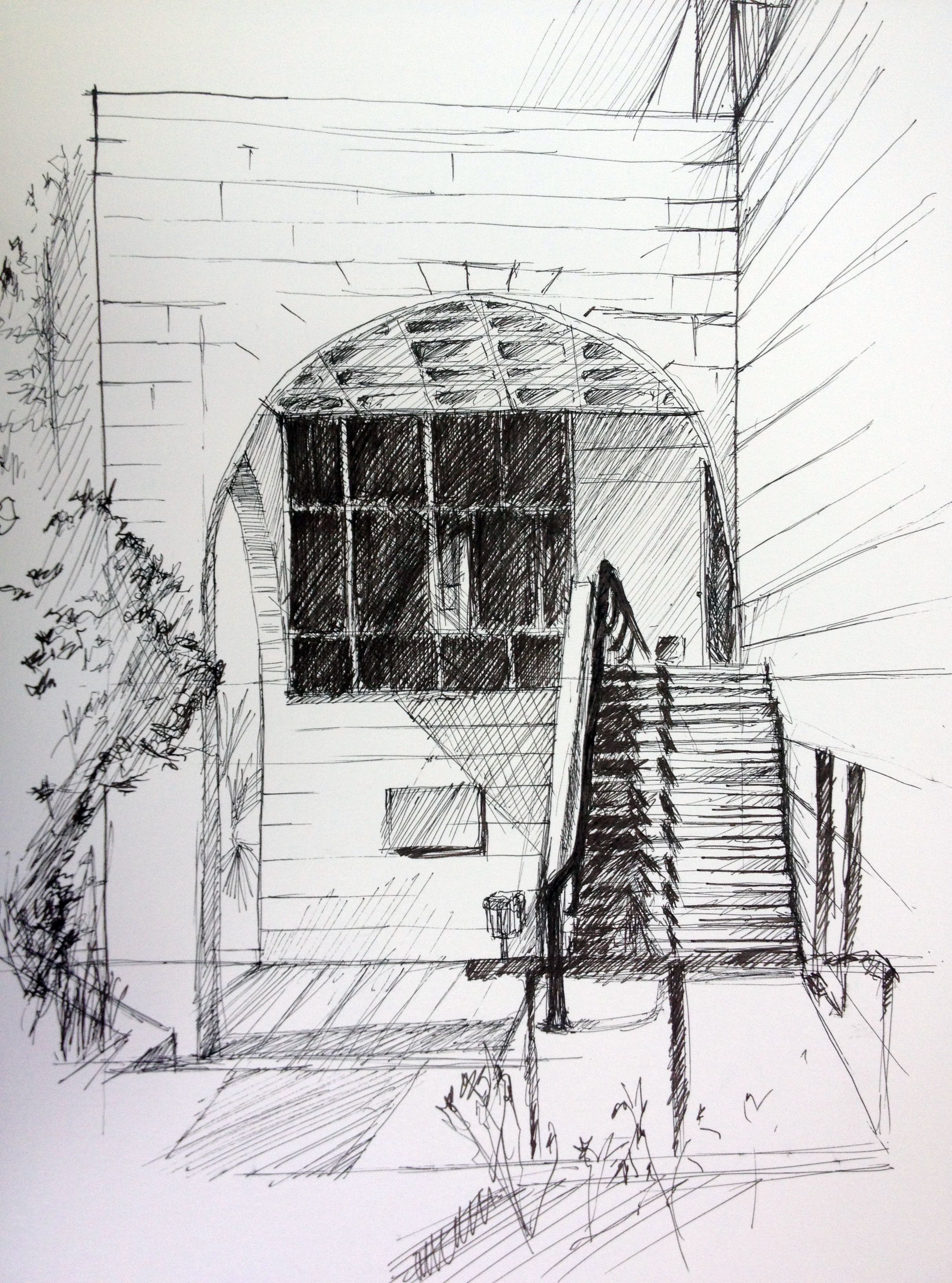 A sketch by mohammad samarah visual communication 1 for Cheap architectural drawings