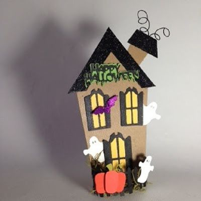 Halloween Shopaholic Cute Little Chipboard Haunted Houses - lowes halloween inflatables