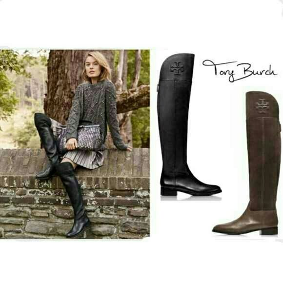 51346a4faa6 EUC Authent Tory Burch Simone Over the Knee Boot Preowned. EUC. Tory Burch  Simone