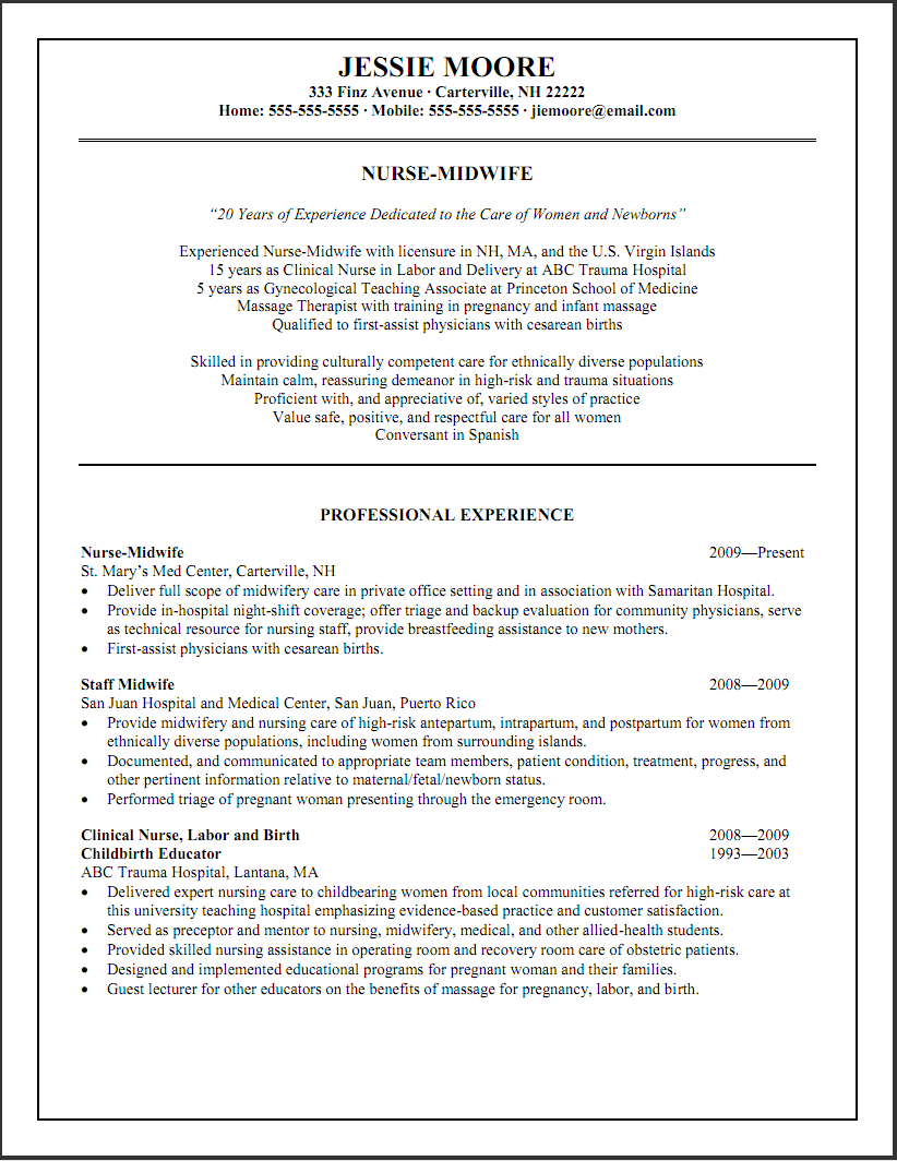 Resume Examples Varied Experience Resumeexamples Resume