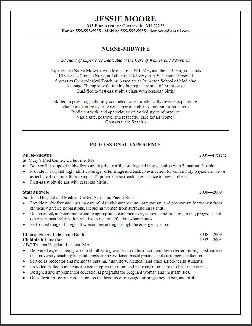 Resume Examples Varied Experience Resume Examples Nurse Cover Nursing Resume