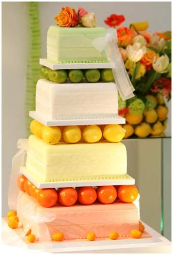 Citrus Fruit Wedding Cake