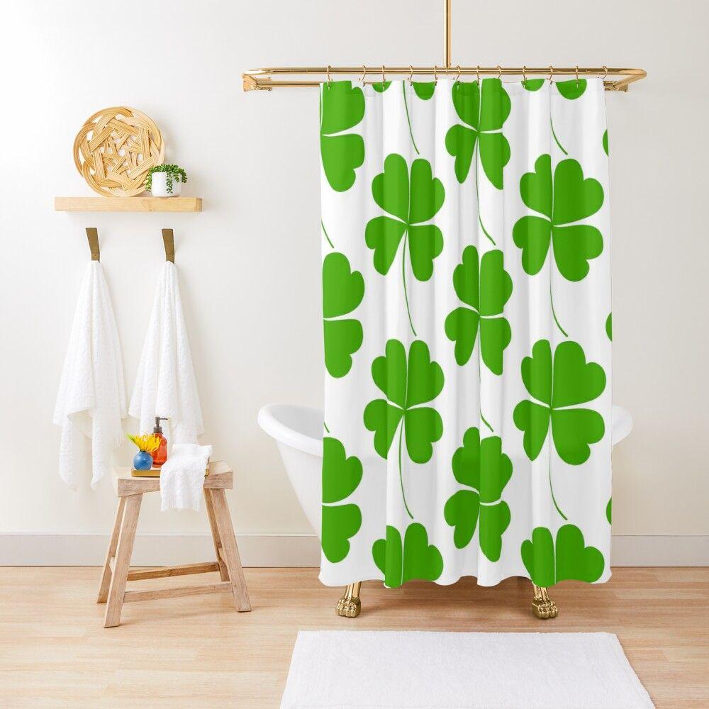 St Patrick S Day Four Leaf Clover Shamrock Print Shower