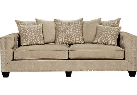 Wondrous Cindy Crawford Home Sidney Road Taupe Sofa Taupe Sofa Creativecarmelina Interior Chair Design Creativecarmelinacom