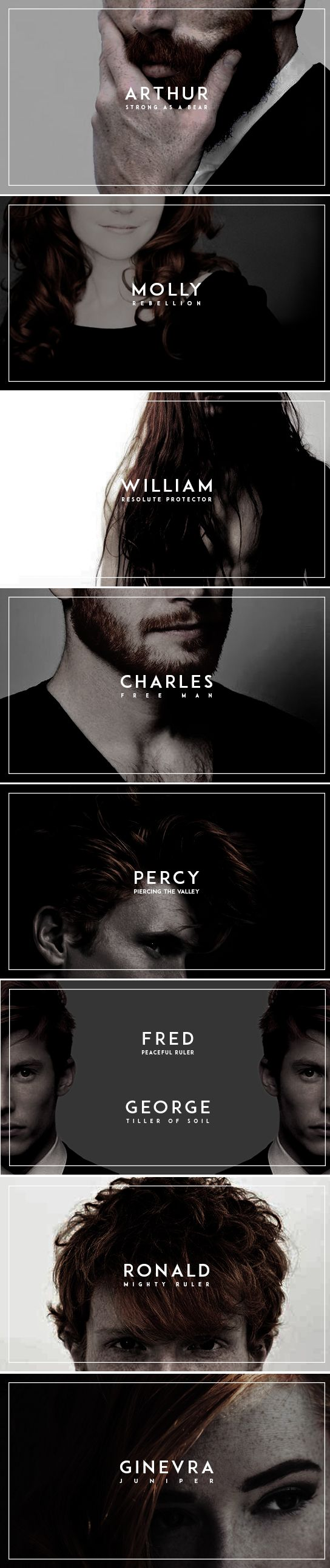 HP FAMILIES + name meanings : WEASLEYS: | back to basics | Harry