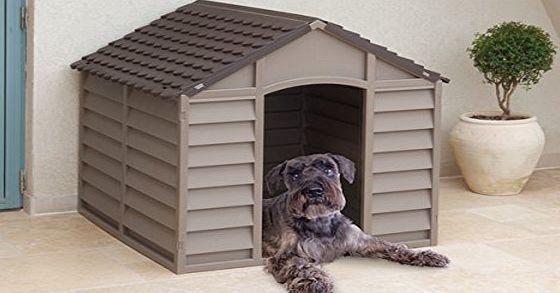 Marko Pet Accessories Plastic Dog Kennel Mocha Plastic Dog