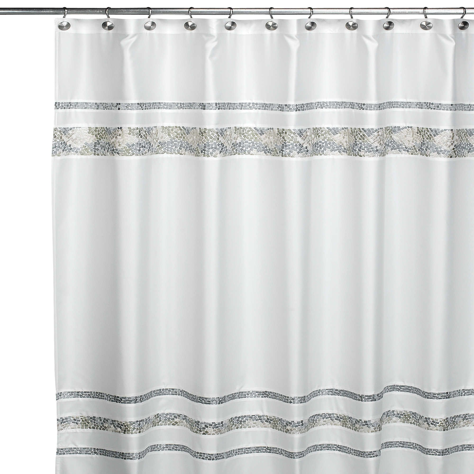 Croscill Spa Tile Fabric Shower Curtain Fabric Shower Curtains