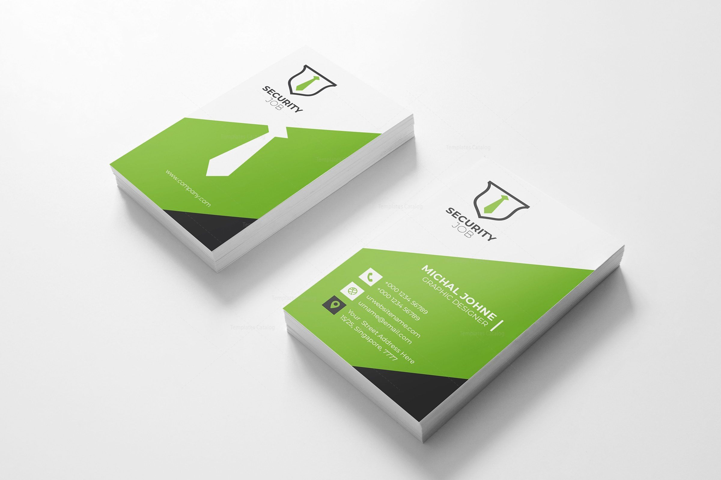 Security Vertical Business Card Design Template 001796 Template Catalog Vertical Business Cards Business Card Template Design Vertical Business Card Design
