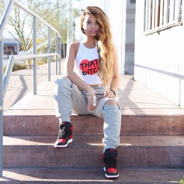 b9e50cf0e3b9 30 Cute Outfits Ideas to Wear with Jordans for Girls Swag | Outfits ...