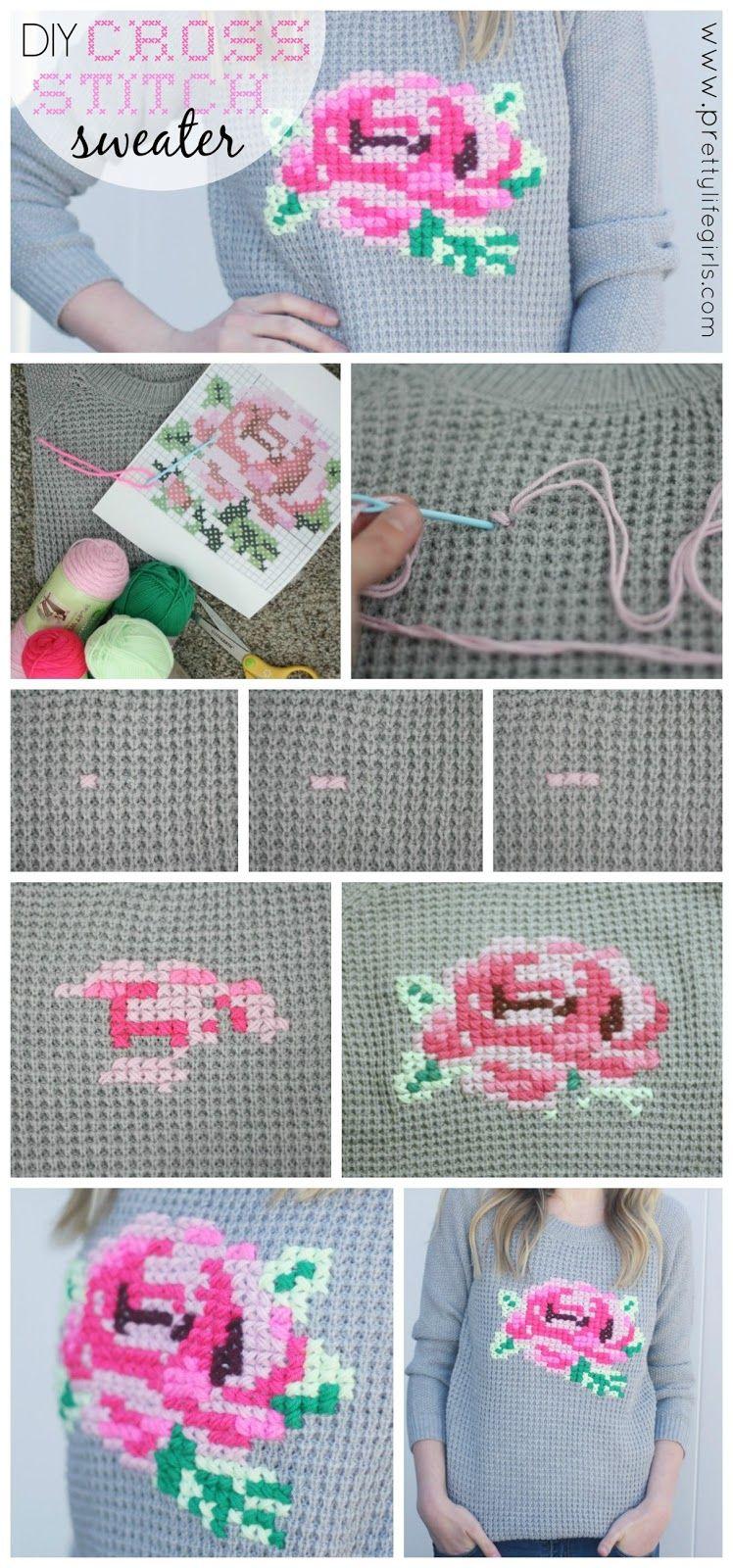 d9a7308caf4577 DIY Cross-Stitch Sweater