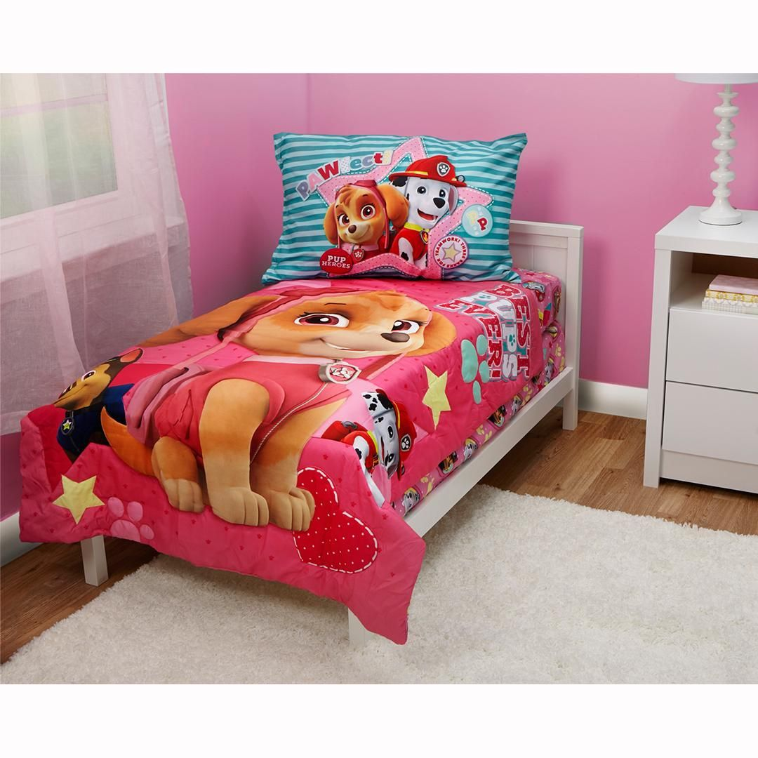 Paw Patrol Skye Best Pups Ever 4 Piece Toddler Bed Set Pink Toddler Bed Set Toddler Bed Toddler Bedroom Sets
