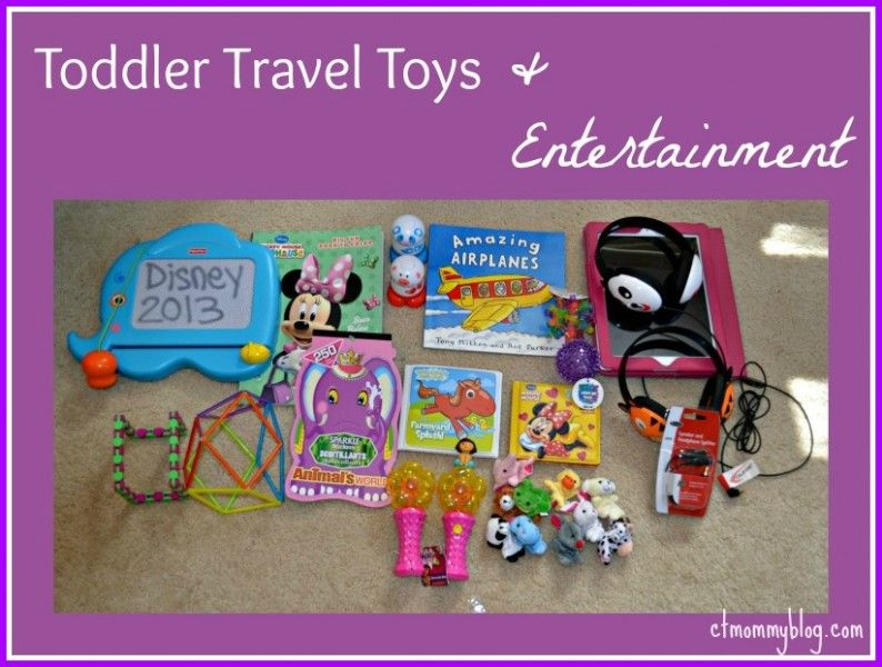Toddler Travel Toys and Entertainment - a great list of what to bring.