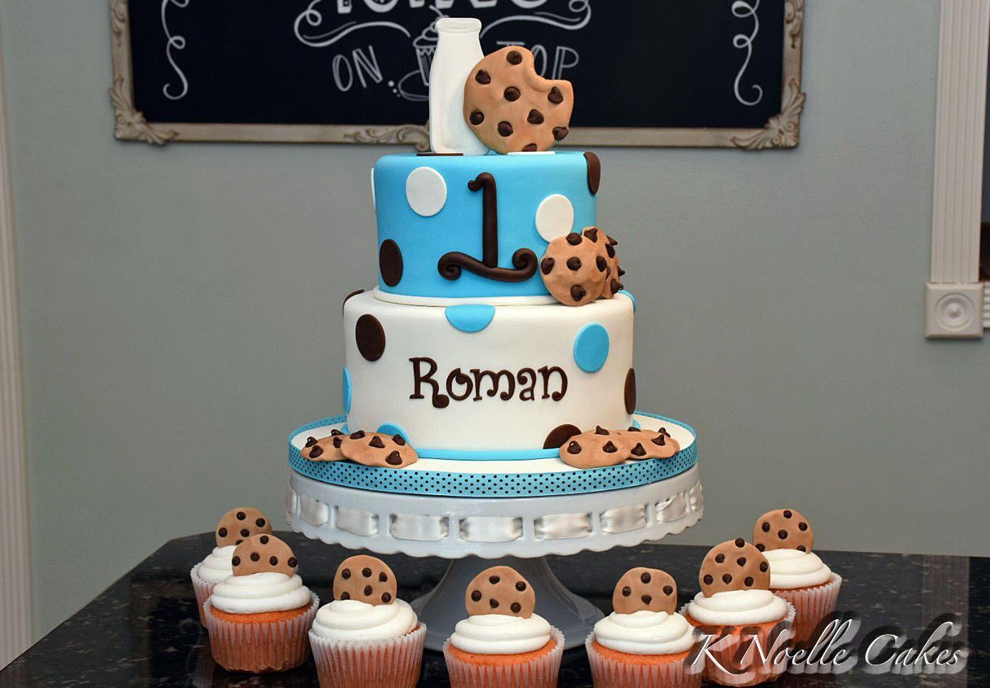 Milk cookies 1st birthday cake by k noelle cakes cake