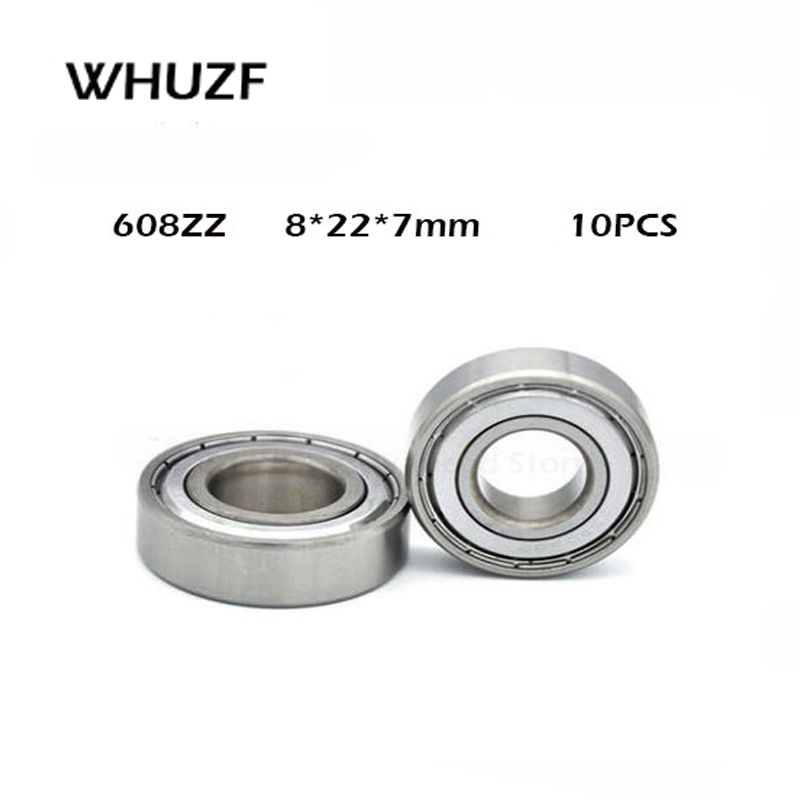 10pcs Double Shielded Miniature High Carbon Steel Single Row 608zz Abec 1 Deep Groove Ball Bearing 8227 8x22x7 Mm 608 Zz Discoun In 2020 High Carbon Steel Carbon Steel