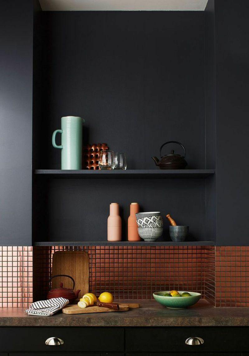 ideen fr moderne wandgestaltung in der kche - Wandgestaltung Kuche Kreative Ideen