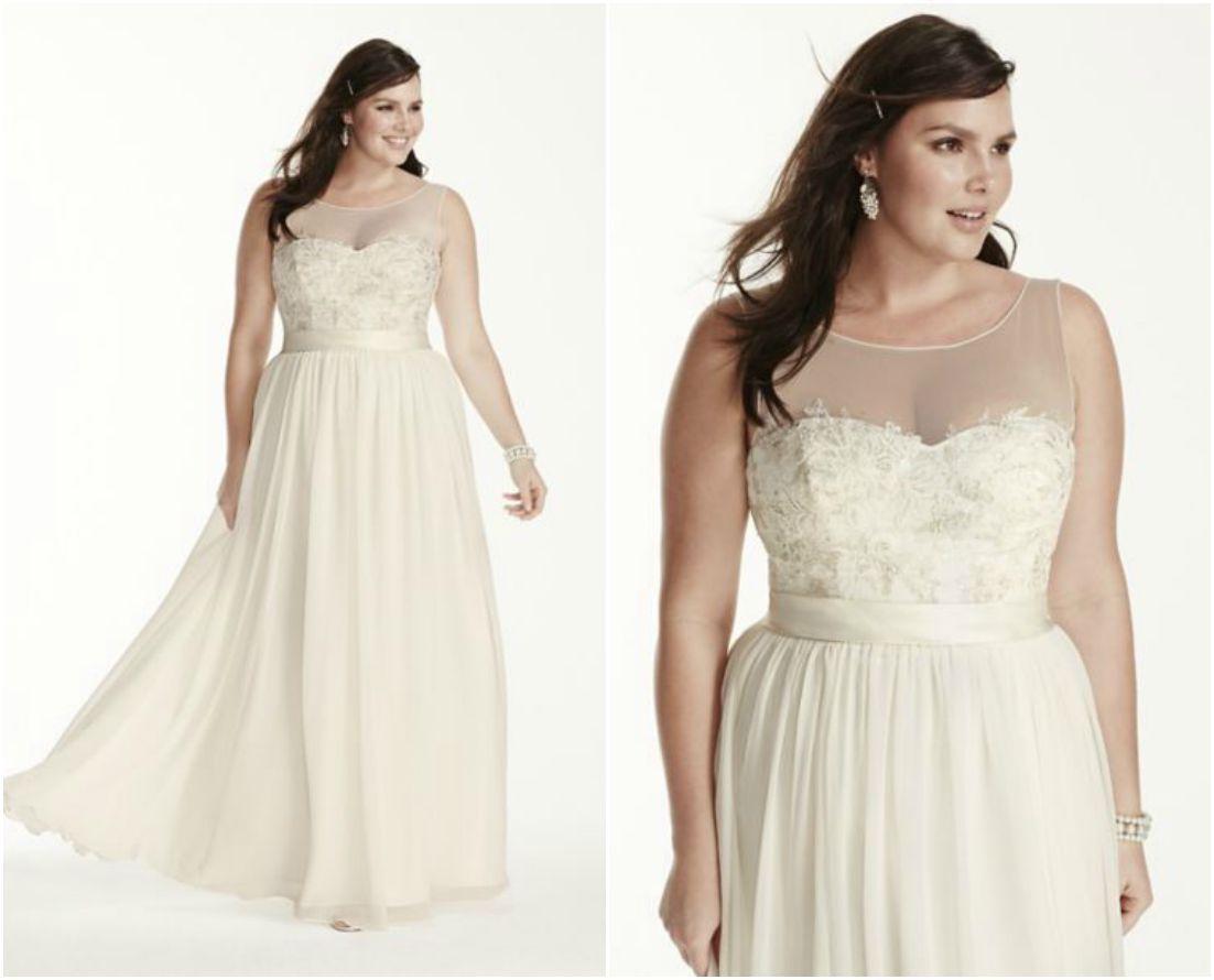 Groß Eine Linie Hochzeitskleider Für Plus Size Galerie ...