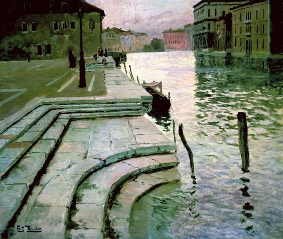 Fritz Thaulow, The Accademia Steps, Venice, 1897