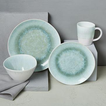 reactive glaze salad plate set dusty mint square kitchen sets ikea dinner uk