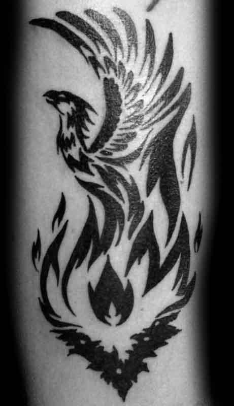 40 Tribal Phoenix Tattoo Designs For Men , Mythology Ink