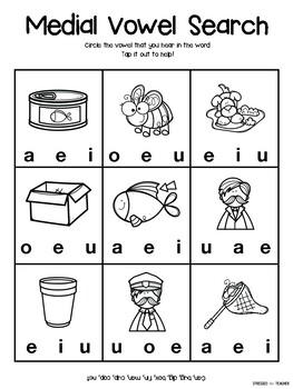 Medial Vowel Sounds Search Worksheet Freebie Freebie Teacherspayteachers Medialsounds Vowels Phonics Phonicswork Cvc Words Vowel Alphabet Coloring Pages