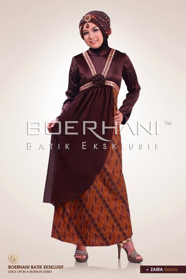 Aneka Model Baju Gamis Batik Terbaru Untuk Pesta  Berita Terbaru