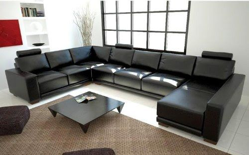 cheap black leather sectional sofas friheten sofa bed review tosh furniture modern couch white row