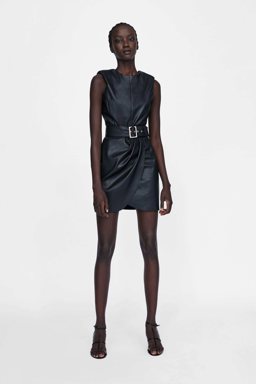 Vestido zara negro 2019